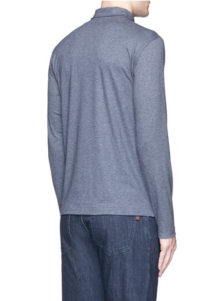 Back View - Click To Enlarge - ISAIA - Cashmere-cotton polo shirt