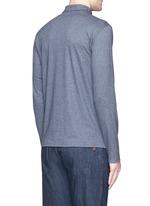 Cashmere-cotton polo shirt