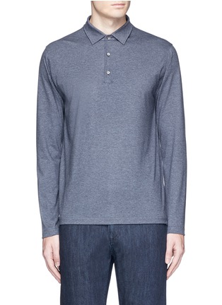 Main View - Click To Enlarge - ISAIA - Cashmere-cotton polo shirt