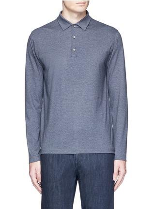 ISAIA-Cashmere-cotton polo shirt