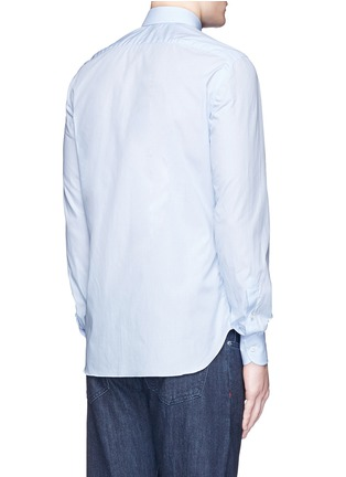 Back View - Click To Enlarge - ISAIA - 'Milano' dot jacquard micro stripe cotton shirt