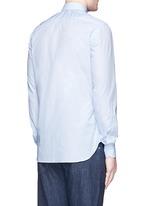 'Milano' dot jacquard micro stripe cotton shirt