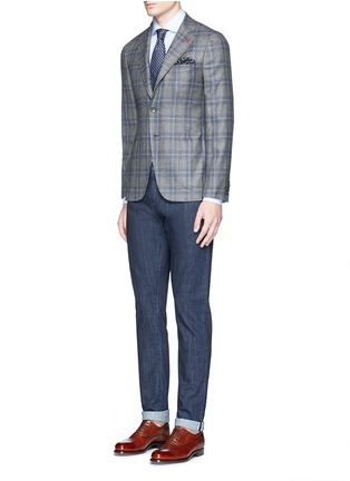 Figure View - Click To Enlarge - ISAIA - 'Milano' dot jacquard micro stripe cotton shirt
