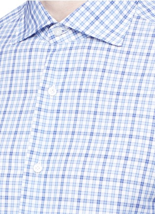 Detail View - Click To Enlarge - ISAIA - 'Milano' check cotton shirt