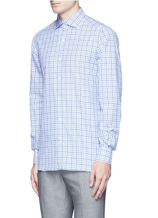 Front View - Click To Enlarge - ISAIA - 'Milano' check cotton shirt