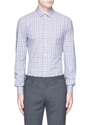 Main View - Click To Enlarge - ISAIA - 'Parma' check cotton shirt