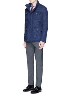 ISAIA'Parma' check cotton shirt