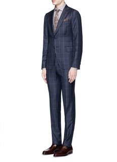 ISAIA'Cortina' check plaid wool-cashmere suit