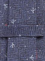 Coral dot print herringbone tie