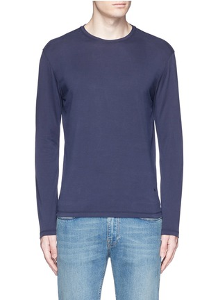 Main View - Click To Enlarge - ISAIA - Silk-cotton blend T-shirt