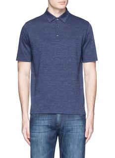 ISAIACotton herringbone polo shirt