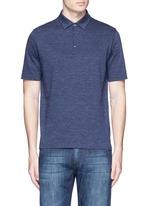 Cotton herringbone polo shirt