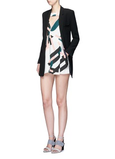 C/Meo Collective  'All Cried Out' cutout front art deco print rompers