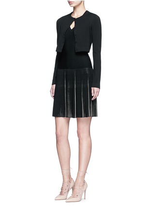 Figure View - Click To Enlarge - Alaïa - 'Supreme' cropped wool blend cardigan