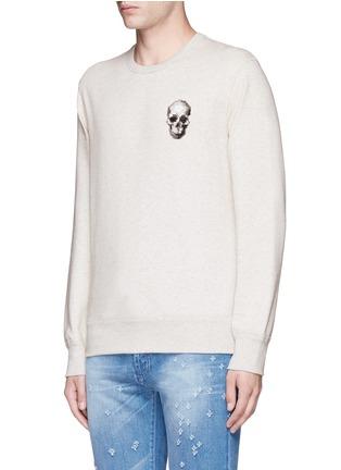 Front View - Click To Enlarge - Alexander McQueen - Skull embroidery sweatshirt