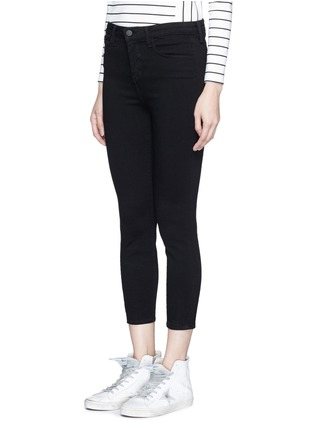 Front View - Click To Enlarge - L'Agence - 'Claudine' cropped skinny pants
