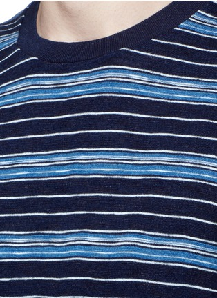 Detail View - Click To Enlarge - Denham - 'Signature' stripe cotton T-shirt