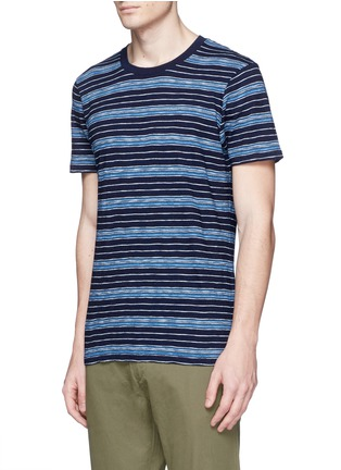 Front View - Click To Enlarge - Denham - 'Signature' stripe cotton T-shirt