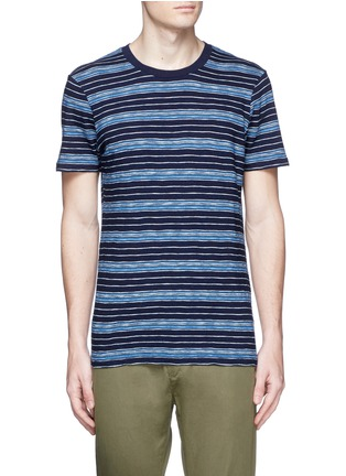 Main View - Click To Enlarge - Denham - 'Signature' stripe cotton T-shirt
