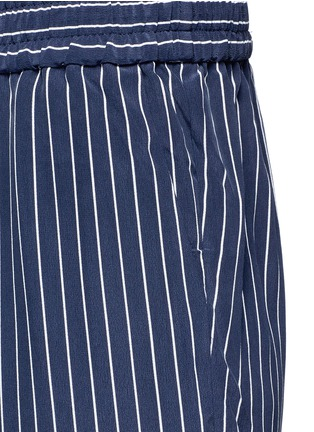 Detail View - Click To Enlarge - Equipment - 'Handley' stripe silk drawstring track pants