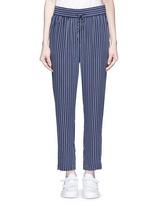 'Handley' stripe silk drawstring track pants