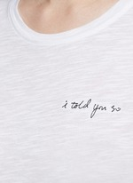 'Base' slogan embroidery cotton slub T-shirt