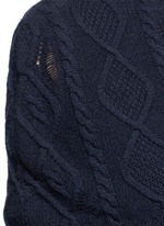 Cashmere-wool cable knit scarf