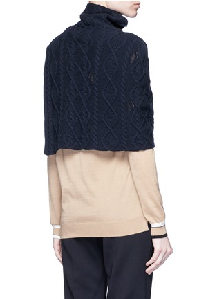 Back View - Click To Enlarge - Stella McCartney - Cashmere-wool cable knit scarf
