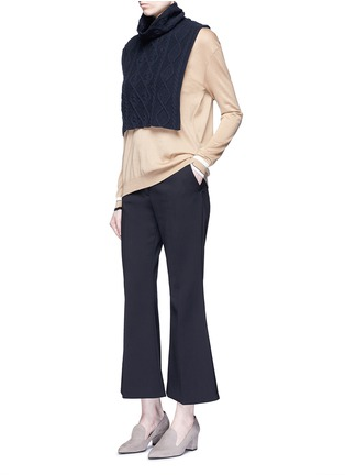 Figure View - Click To Enlarge - Stella McCartney - Cashmere-wool cable knit scarf
