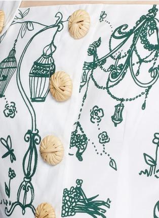 Detail View - Click To Enlarge - Dolce & Gabbana - Wicker button Victorian Garden print poplin dress