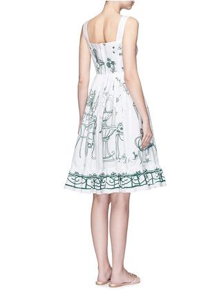 Back View - Click To Enlarge - Dolce & Gabbana - Wicker button Victorian Garden print poplin dress