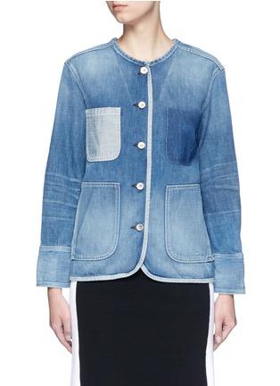 Main View - Click To Enlarge - rag & bone/JEAN - 'Santa Cruz' pocket denim jacket