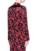 Floral print silk satin pyjama shirt