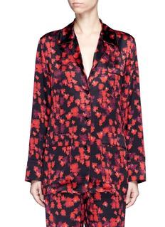 GivenchyFloral print silk satin pyjama shirt