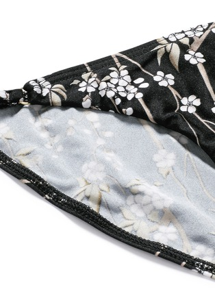 Detail View - Click To Enlarge - Zimmermann - 'Sakura Tuck Tri' floral print bikini set