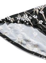 'Sakura Tuck Tri' floral print bikini set