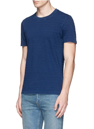 Front View - Click To Enlarge - Denham - 'Signature' stitch stripe T-shirt