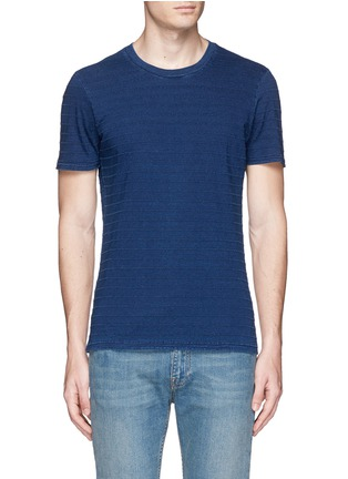 Main View - Click To Enlarge - Denham - 'Signature' stitch stripe T-shirt
