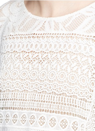 Detail View - Click To Enlarge - alice + olivia - 'Danette' guipure lace poncho top