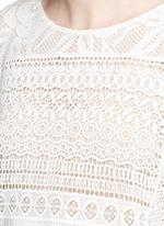 'Danette' guipure lace poncho top