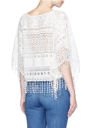Back View - Click To Enlarge - alice + olivia - 'Danette' guipure lace poncho top