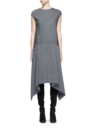 Main View - Click To Enlarge - Balenciaga - Knit effect cutout hem dress