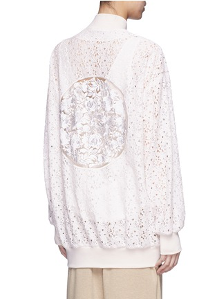 Back View - Click To Enlarge - Stella McCartney - 'Simone' embroidered rebrode lace bomber jacket