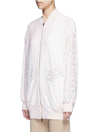 Front View - Click To Enlarge - Stella McCartney - 'Simone' embroidered rebrode lace bomber jacket