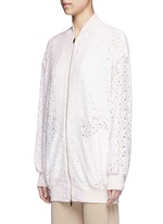 'Simone' embroidered rebrode lace bomber jacket