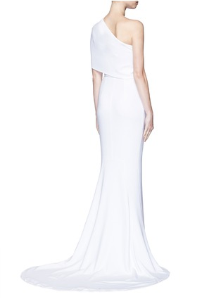 Back View - Click To Enlarge - Stella McCartney - One shoulder cady crepe gown