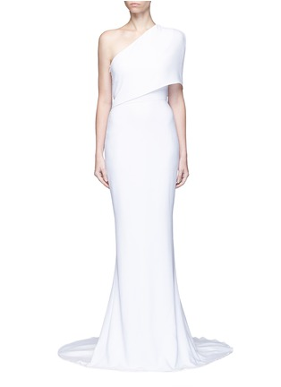 Main View - Click To Enlarge - Stella McCartney - One shoulder cady crepe gown