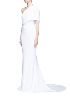STELLA MCCARTNEY One shoulder cady crepe gown