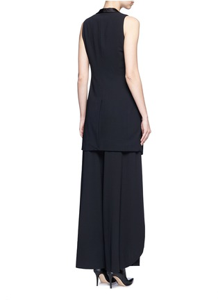 Back View - Click To Enlarge - alice + olivia - 'Mayson' shawl collar long waistcoat