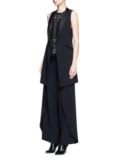 ALICE + OLIVIA'Mayson' shawl collar long waistcoat